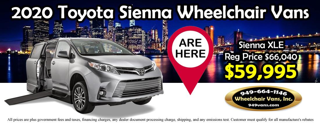 2020 Toyota Sienna XLE Wheelchair Vans Are Here