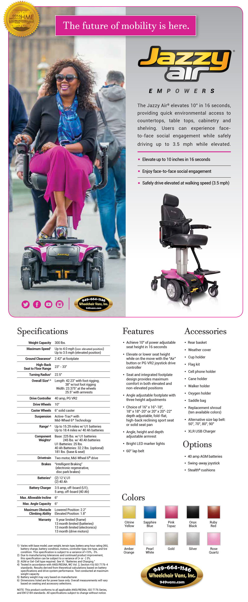 Best Prices on Pride Mobility Jazzy Air Electric Wheelchair Sales Event