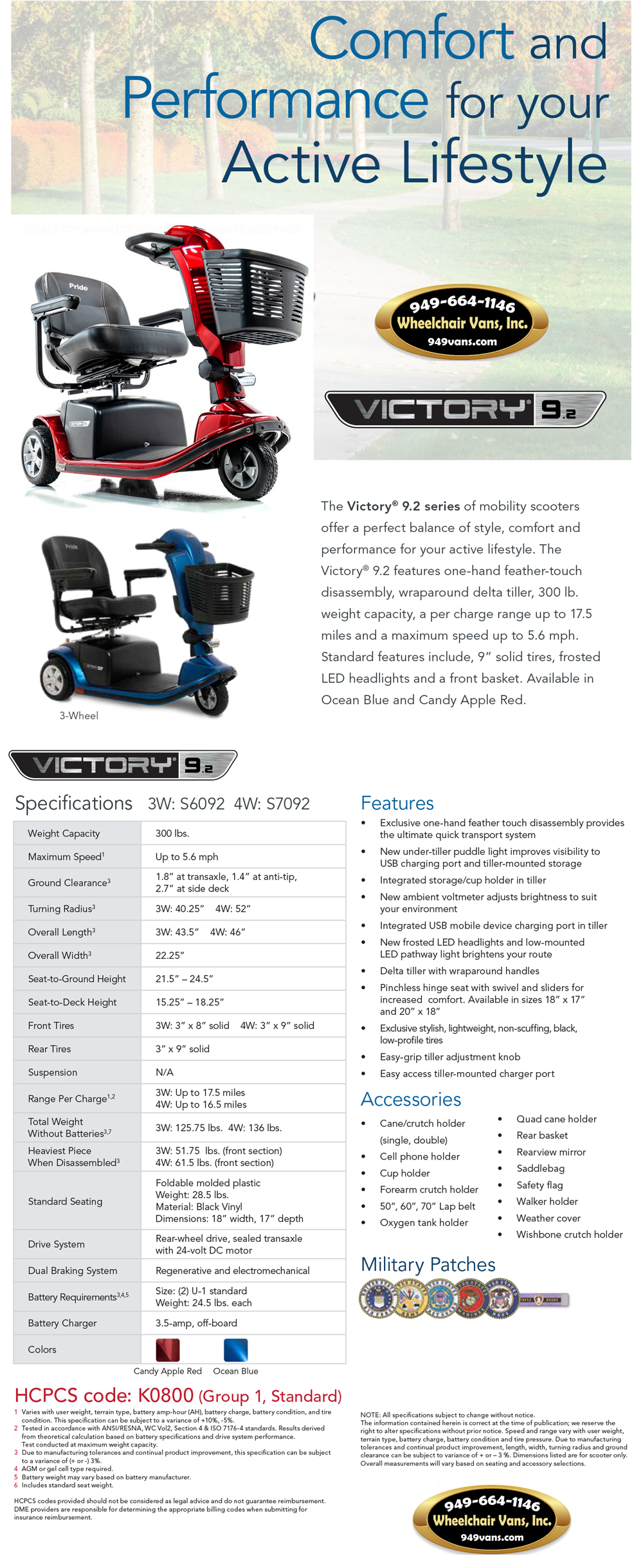 Best Prices on Pride Mobility Victory 9.2 3 Wheel Mobility Scooter Mobility Sales Event