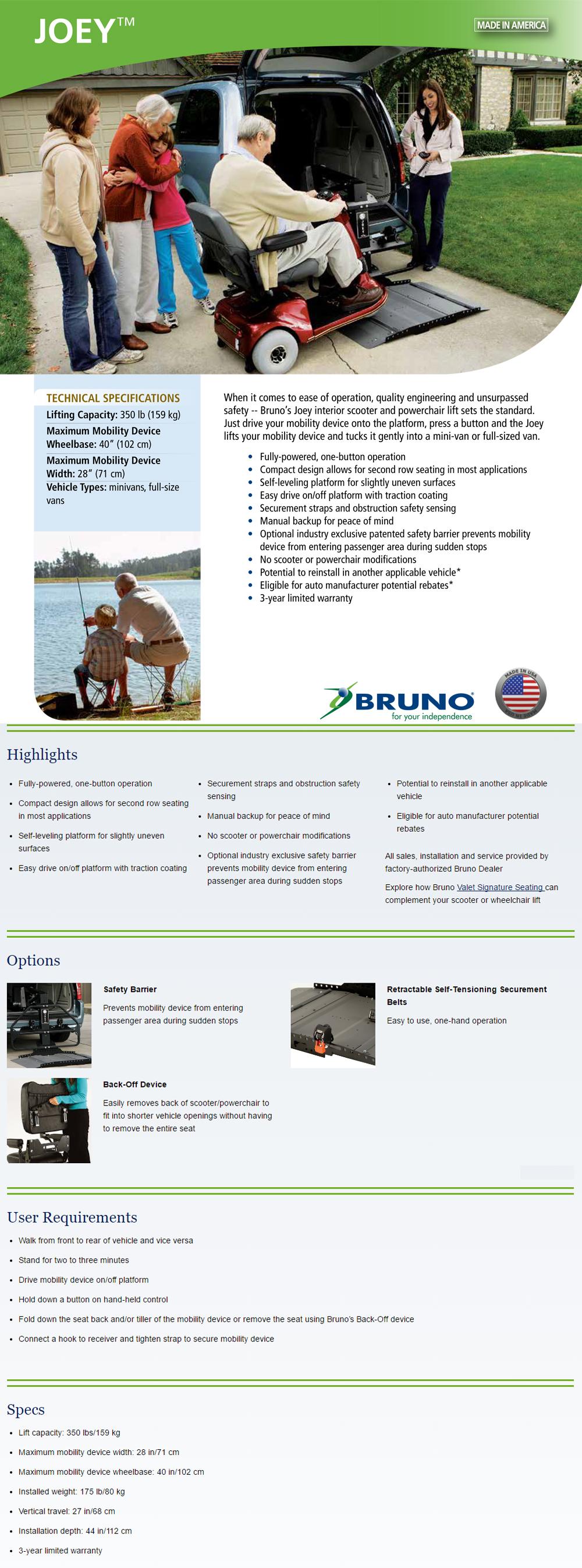 Bruno-VSL-4000HW-Joey-electric-lift