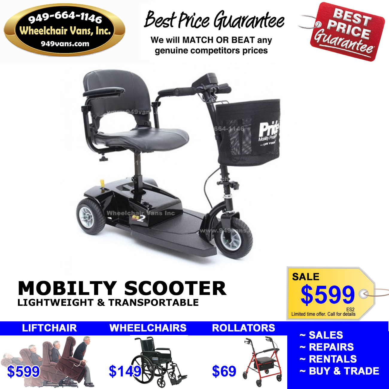 ES2 Mobility Scooter Sale Orange County 599