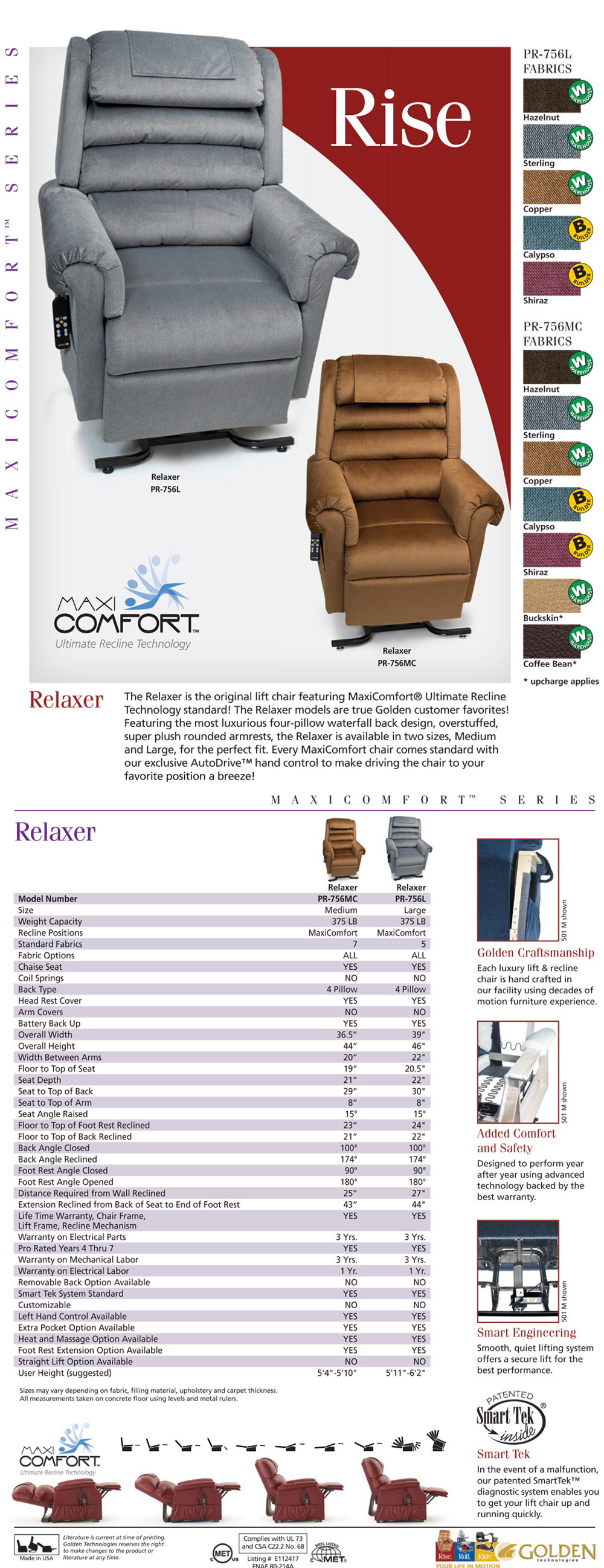Golden-PR756-Relaxer-liftchair-recliner-sale