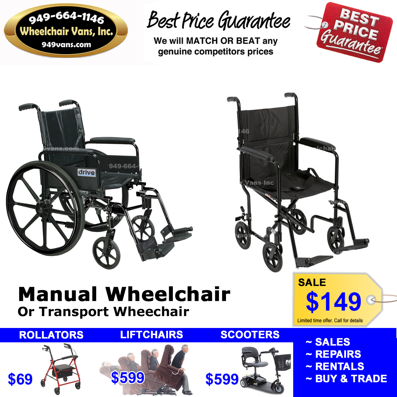 Manual Wheelchair Sale Orange County CA 149