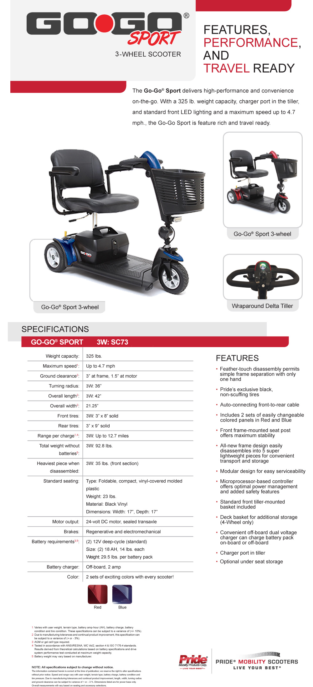 Best Prices on Pride Mobility GoGo Sport 3 Wheel Scooter