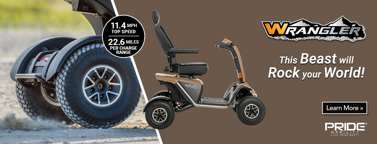 New Pride Mobility Wrangler 4 Wheel Personal Mobility Scooter