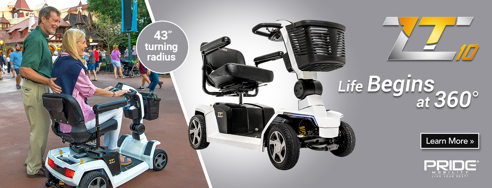 Pride Mobility ZT 10 4 Wheel Personal Mobility Scooter