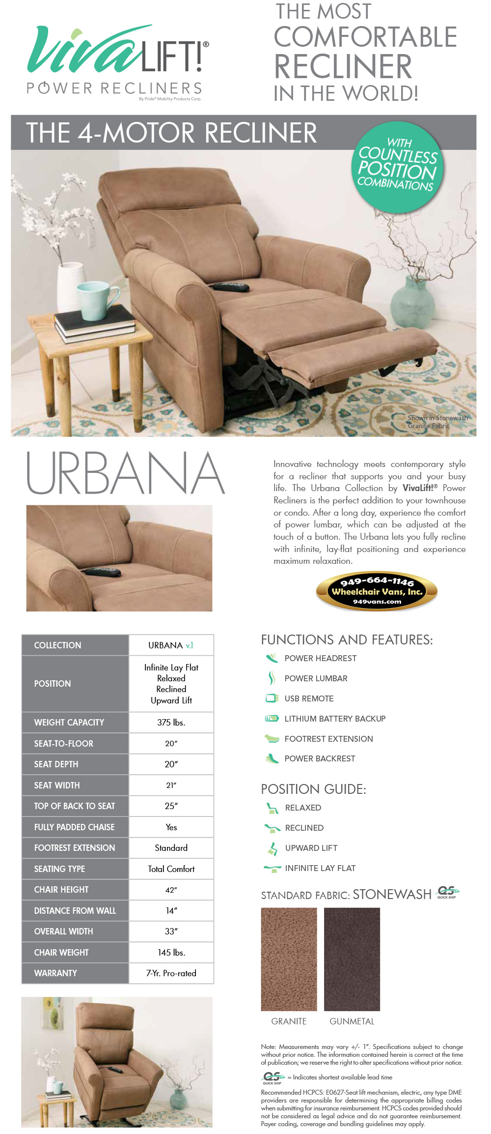 Best Prices on Pride Mobility VivaLift Urbana v.1 Liftchair Recliner Sales Event