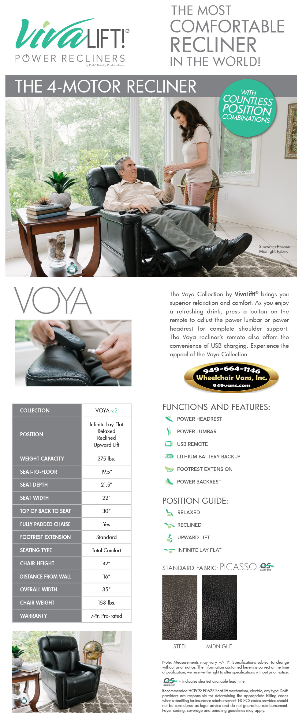 Best Prices on Pride Mobility VivaLift Voya v.2 Liftchair Recliner Sales Event
