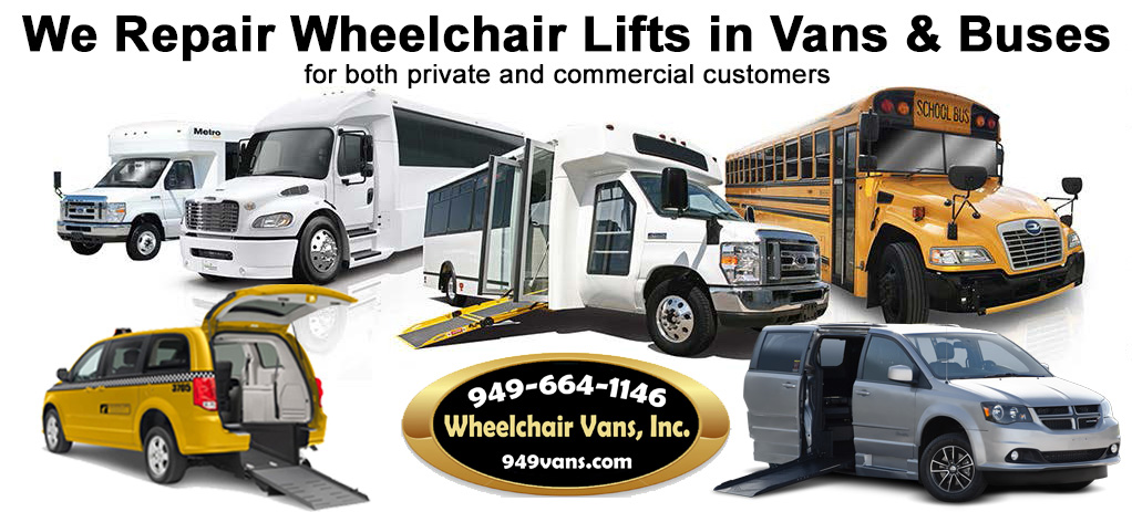 Orange County California Wheelchair and Shuttle Bus Service and Repair Center
