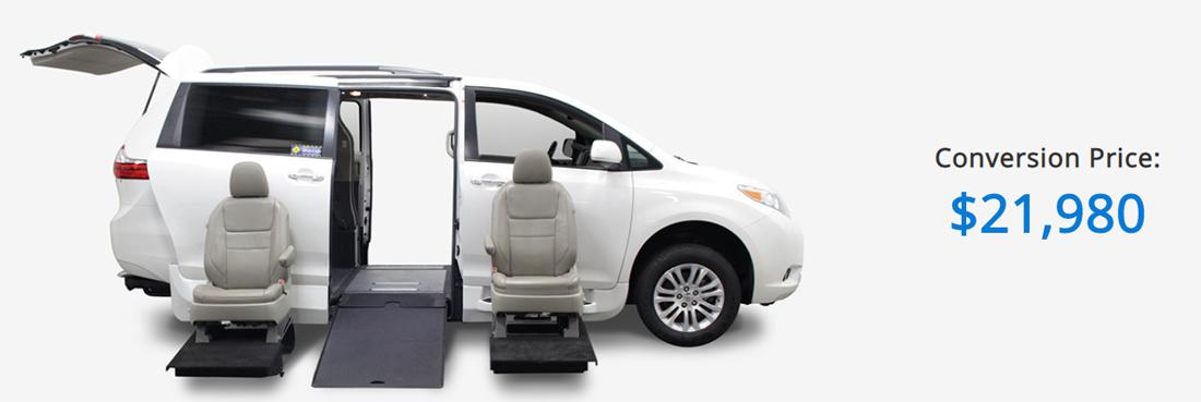 Wheelchair van conversion