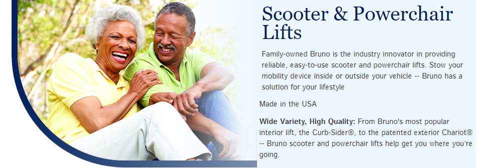 Vehicle Lifts and Carriers for your scooter or electric wheelchair