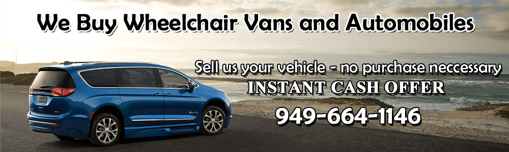 We buy wheelchair vans and automobiles