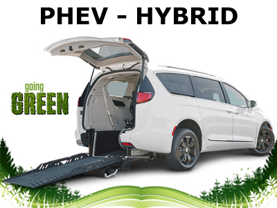 Chrysler Pacifica Hybrid Rear Loading Wheelchair Accessible Vans