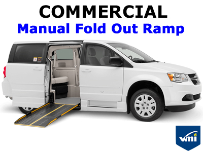 Commercial Manual Fold Out Ramp Wheelchair Van Conversion