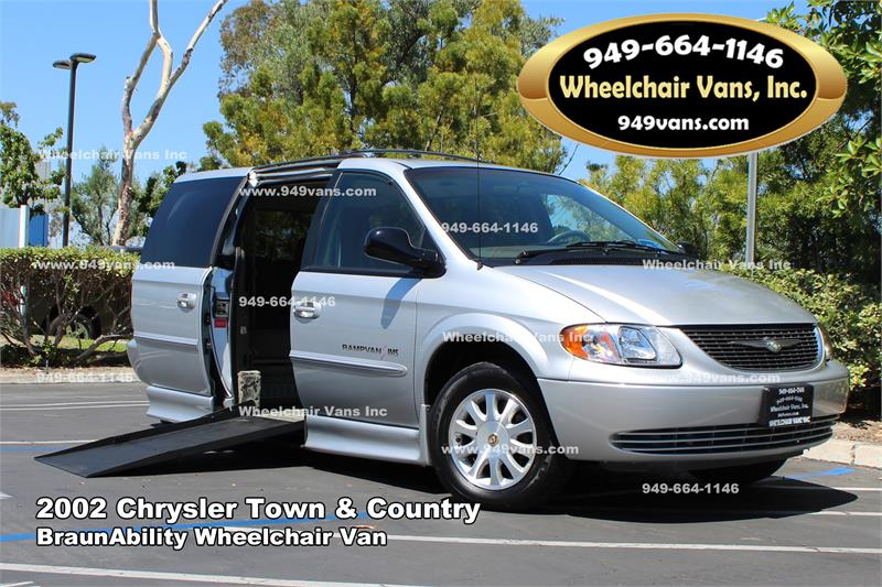 for sale 2002 chrysler town and country braunability wheelchair van. Black Bedroom Furniture Sets. Home Design Ideas