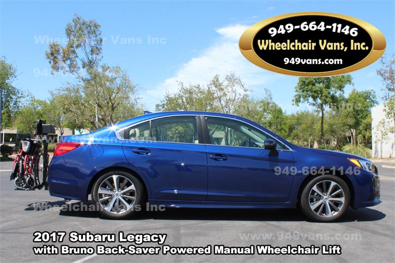 2017 Subaru Legacy with Bruno Backsaver Manual Wheelchair