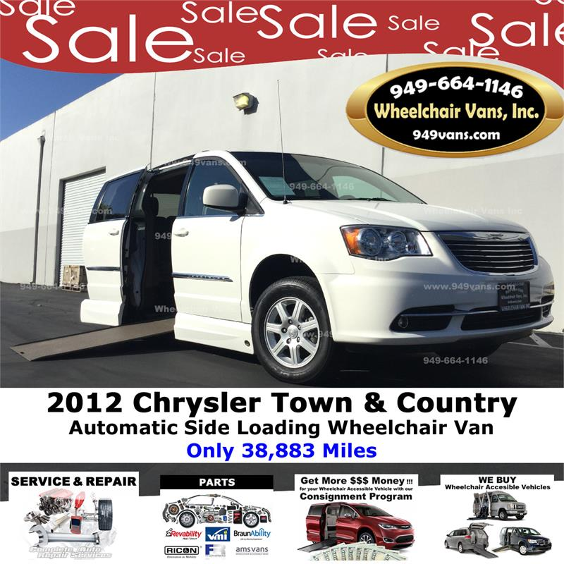 For Sale 2012 Chrysler Town & Country Touring Wheelchair
