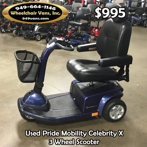 Used Mobility Scooters For Sale >> Used Pride Mobility Celebrity X 3 Wheel Scooter