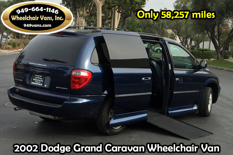 2002 Dodge Grand Caravan With VMI Northstar Wheelchair Van Conversion