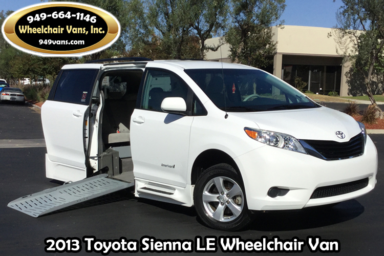 2013 toyota sienna le eldorado mobility wheelchair van. Black Bedroom Furniture Sets. Home Design Ideas