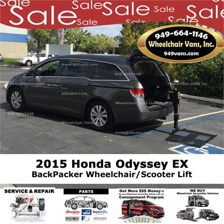 For Sale 2015 Honda Odyssey Ex With Bruno Joey Lift Golden Tech