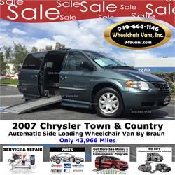 ce43627f10 2007 Chrysler Town   Country Touring Wheelchair van Conversion by Braun  Ability. Sale Price   18